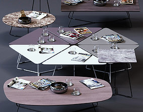 Ditre Italia Coffee Tables Set 02 3D model