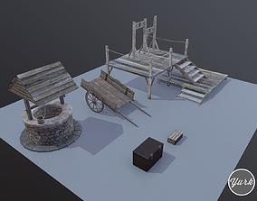 Medieval Props Set 3D model