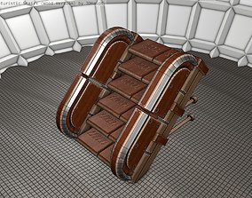 Wood Stairs - Construction Element 19 3D asset