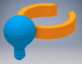 Light bulb Ring 3D printable model