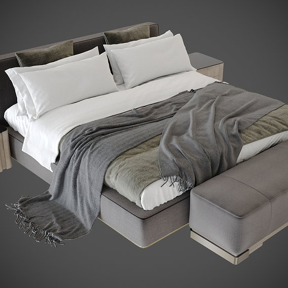 3d models from the Bedroom silver bor scene vol 1