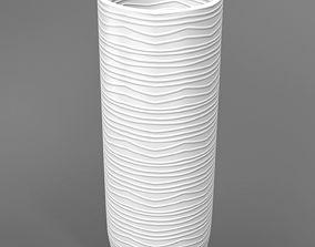Modern White Vase 3D model interior