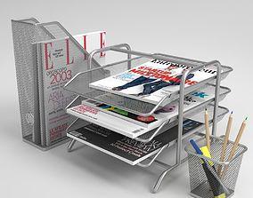 3D model Ikea Dokument Magazine file Letter tray Pen Cup 1