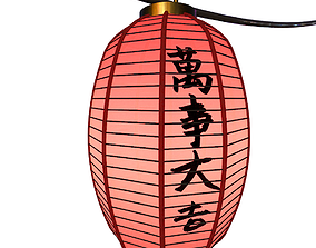 low-poly Chinese Lantern 3D model