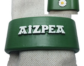 AIZPEA 3D Napkin Ring with daisy