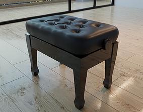 Concert piano stool 3D model