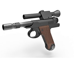 3D model Blaster Pistol of Cara Dune from The Mandalorian