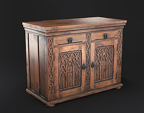 3D asset Gothic Commode