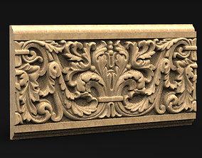 Decorative Panel 4 3D STL Model barroco
