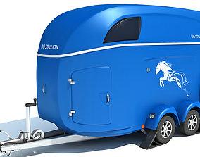 Horse Transport Trailer 3D model
