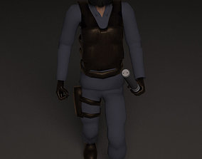 Police 3D asset animated