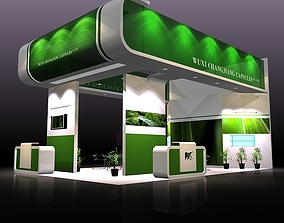 3D Exhibit Booth Design 01