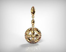 Jewelry Golden Round Hanging Pendant 3D printable model