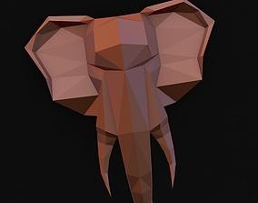 3D printable model the head of an elephant