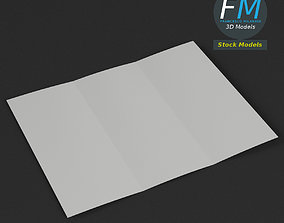 Trifold mockup open 3D