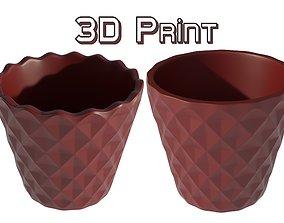 Flower pot plant 3D print model