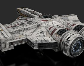 3D model animated Corellian XS Freighter
