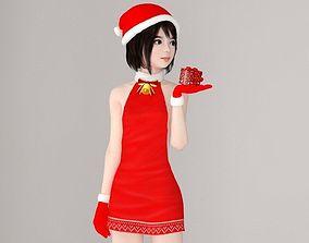 3D model Chiharu Christmas pose 01