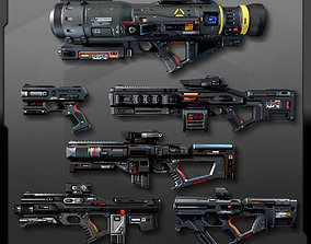 3D asset 6 SF Weapons Pack