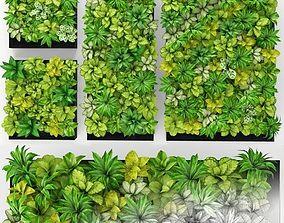 Green wall 01 3D model