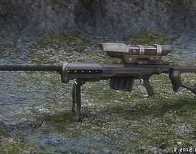 3D model game-ready KSR-29 sniper rifle