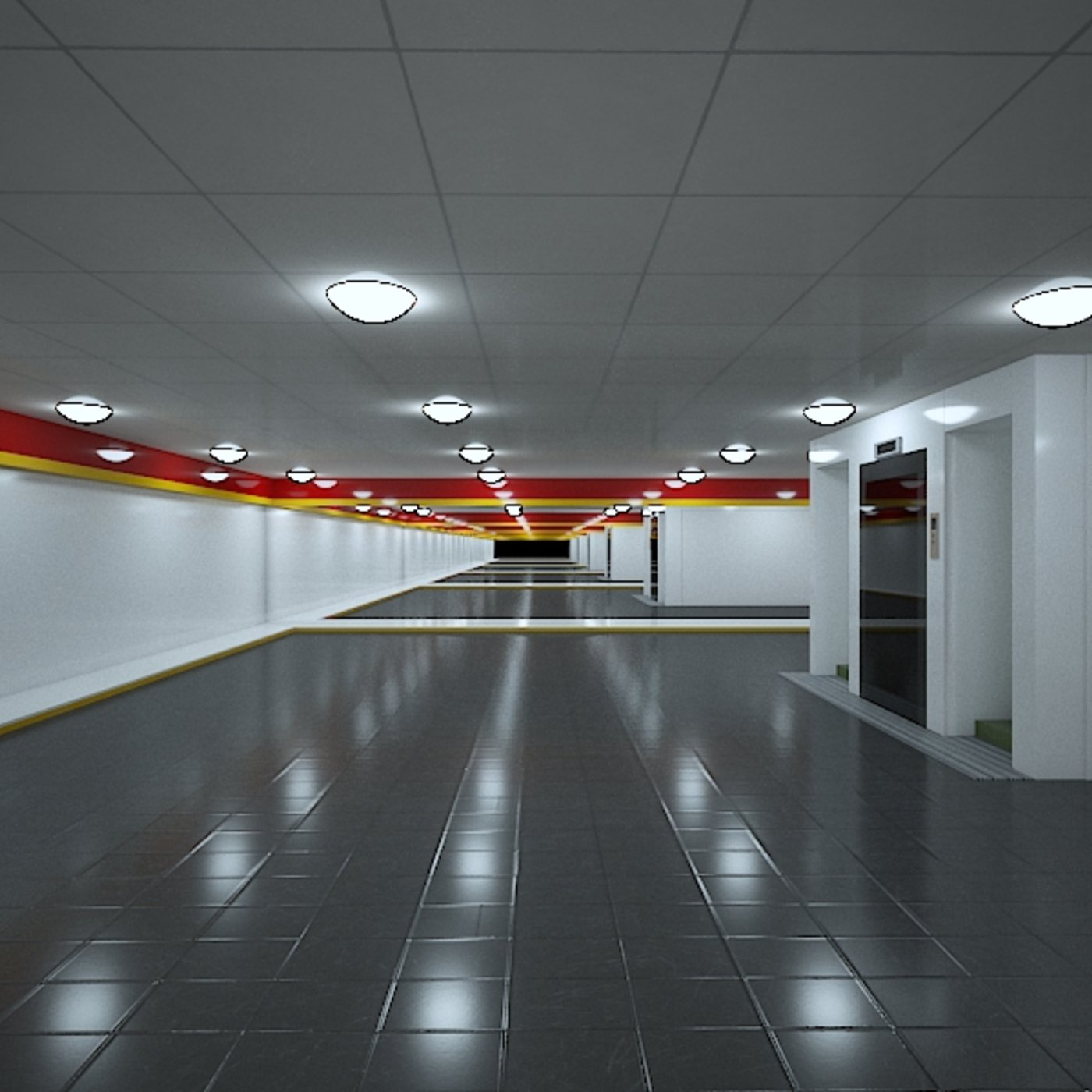 empty shopping centre hall