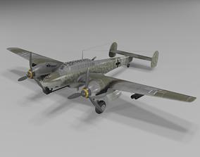 3D model Messerschmitt Bf 110 G-2 Heavy Fighter