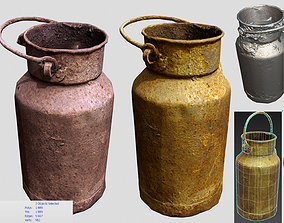 rusty milk container 3D model realtime