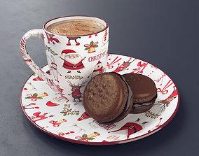 Macaron and Coffee 3D model
