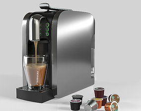 Coffe Machine And Pods 3D model