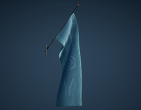3D asset Flag Game Ready