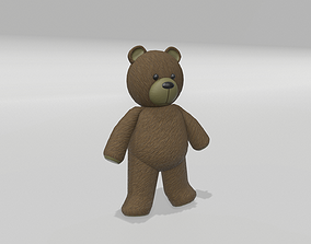 Stuffed Teddy Bear 3D asset