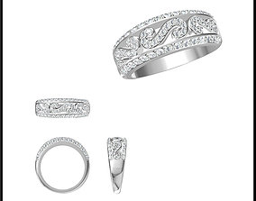 Simple promise rings jewelry jcd 3D print model