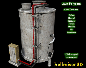 3D model Boiler - PBR - Textured