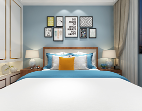 Hotel Guest Room bedroom European style 3D contemporary