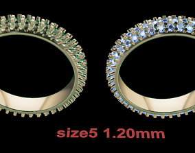 3D print model Dainty Cluster Diamond Infinity Band Size5