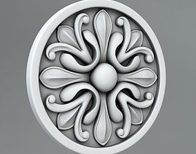 Carved Rosettes Medallions cartouche cornce 3D model