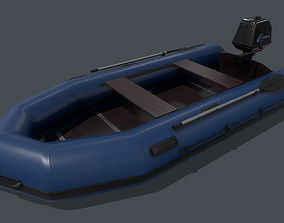 3D model game-ready Inflatable Boat