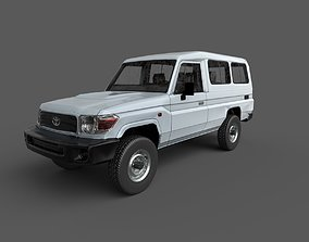 3D model Low Poly Car - Toyota Land Cruiser PBR