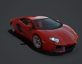 Lamborghini Aventador Coupe 3D asset low-poly