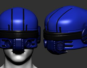 helmet high poly sculpt 3d printable plastic