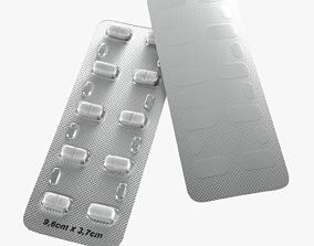 pills blister 3D model