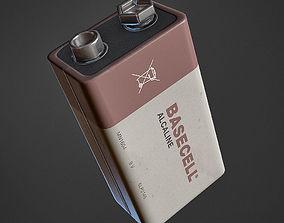 Battery 9V 3D asset