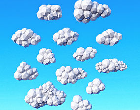 Clouds Pack Low Poly 3D asset