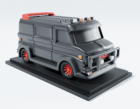 A-Team van chibi 3D printable model