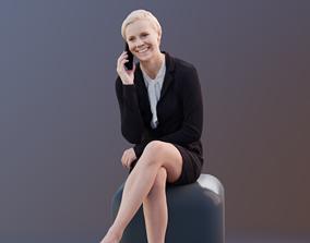 Ina 10036 - Sitting Business Woman 3D asset