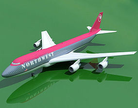 3D model Boeing 747 North West V1