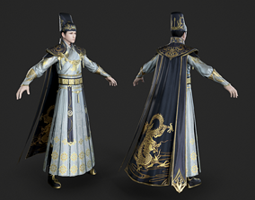 Royal guards of Ming Dynasty in ancient China 3D model