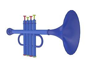 3D Plastic trumpet