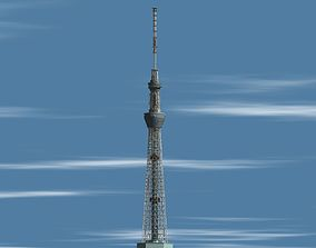 exterior Self-supporting towers Tokyo Sky-Tree 3D model